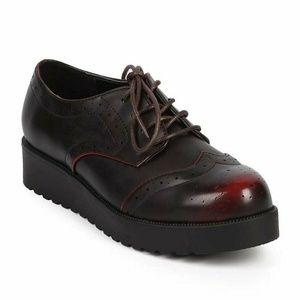 Wing Tip Rockabilly Creeper Women's Flat Shoes